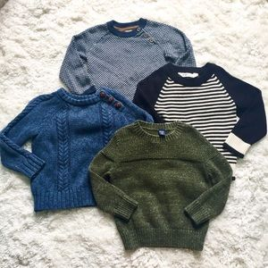 4pc lot boy 2T cable knit sweaters